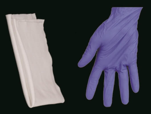 wipes and gloves